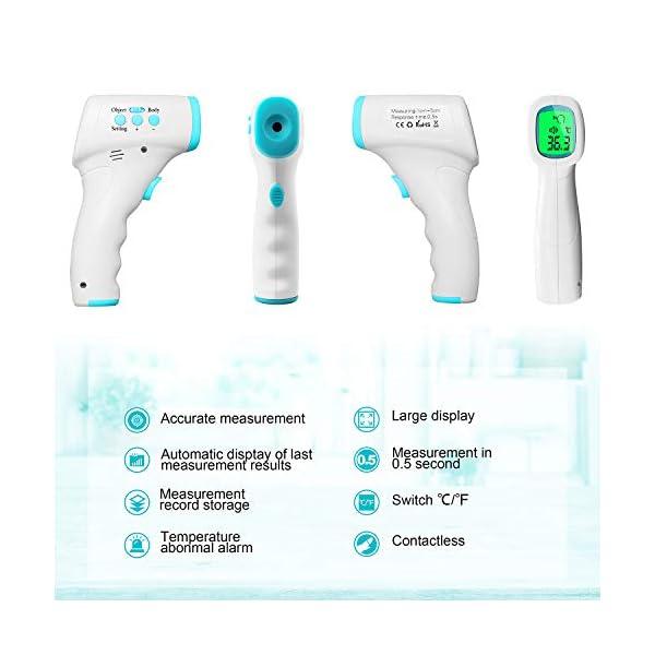 Byakov Termómetro de Frente, Termómetro Infrarrojo, Sin Contacto Termómetro Digital Infrarrojos con Pantalla LED… 8