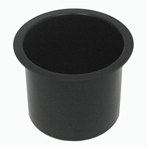 Jumbo Aluminum Black Poker Table Cup Holders Set of 10 by by niceengineer