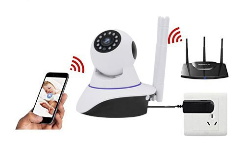 Joney Wireless HD IP Camera with 3pcs wireless antenna,Support 2 Way Audio, Day/Night Vision Webcam (1.3MP) by Joney (Image #3)