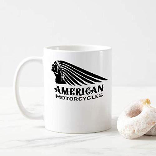 American Biker Mug Indian Biker Mens Ringer Motorcycles Motorbike 11oz coffee - Ringer Motorcycle