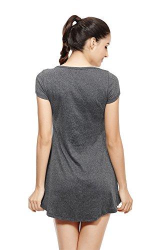 Grau Dünne Kurzschluss Kleid Szivyshi Einteilige -hülsen-süßigkeit-farben Frauen-mädchen-minikleid Grundlegende