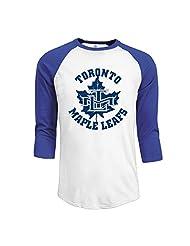 Men's Canada Toronto Maple Leafs Ice Hockey 3/4 Sleeve Baseball Tee Shirts Black (3 Colors)