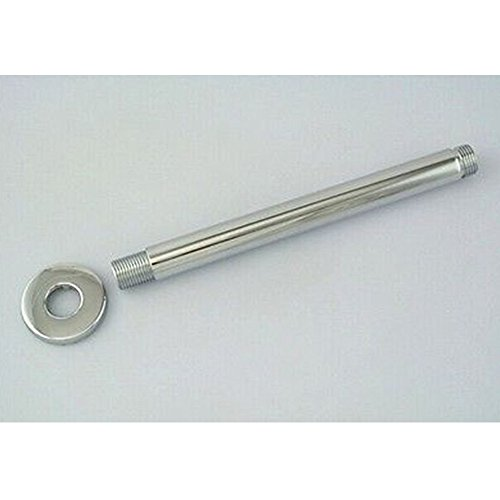 """low-cost 12"""" Brass Fixed Shower Head Arm - Round Wall & Celling Mount - Chrome Finish"""