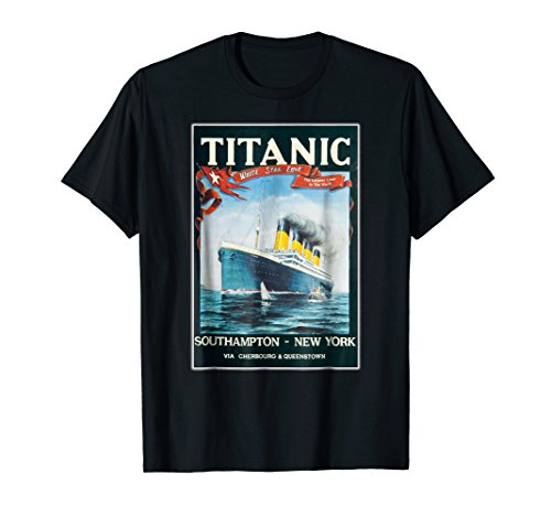 Titanic T Shirt Vintage Maritime UK USA Gift Graphic T-Shirt