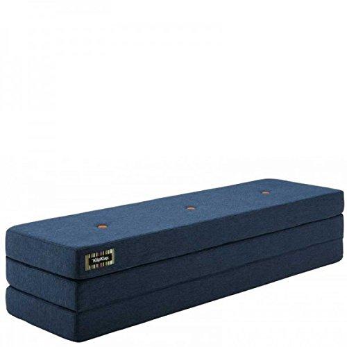 by KlipKlap 3 fold Multipurpose Furniture - Dark Grey with Orange Button, Normal length 180 cm