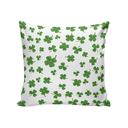 - Aiesther Greeen Shamrocks Pillow Covers Home Decor Design Decorative Pillow Case Cotton Linen Cushion Cover for Sofa Bedroom Couch Car 24x24 Inch(60cm)