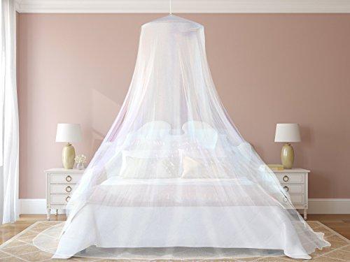 1# Das beste Moskitonetz von NATURO - Das größte Doppelbett Moskitonetz Baldachin - Insekten Malaria Schutz - Gratis Boni: 2 Insektenschutz Armbänder, ein Aufhängekit & Tragetasche