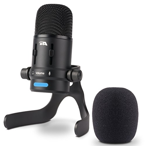 Cyber Acoustics USB Condenser Microphone for Podcasts, Gaming, Vocal, Music, Studio and Computer Recordings - Mic compatible with PC and Mac - Dual Recording Patterns (CVL-2006) (Cyber Acoustics Usb Desktop)