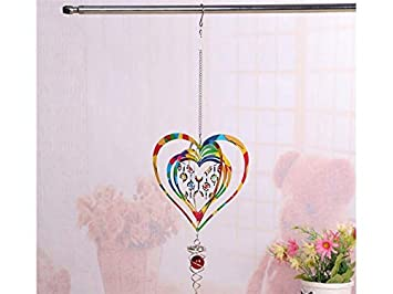 Amazoncom Zhisan Graceful Creative Rotate Heart Shape Bell Wind