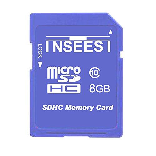 Inseesi SD Card 8GB Class 10 High Speed up 10M/s Flash Memor