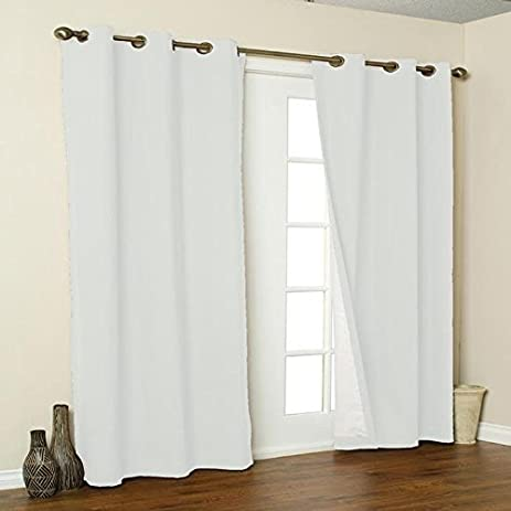 thermalogic weathermate insulated grommets cotton curtain panels 80 x 54