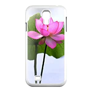 Beautiful lotus Unique Design Cover Case with Hard Shell Protection for SamSung Galaxy S4 I9500 Case lxa#892261