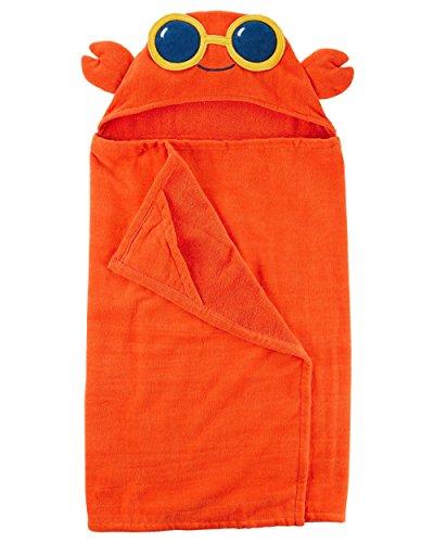 Carter's Boys' Hooded Towel (Orange/Crab)
