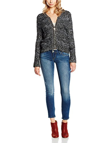 Guess Linh Cardi - Jersey para mujer Negro (BLACK AND WHITE)