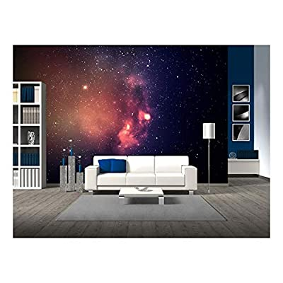 Star Field in Deep Space Many Light Years Far from The Earth. - Removable Wall Mural | Self-Adhesive Large Wallpaper - 66x96 inches