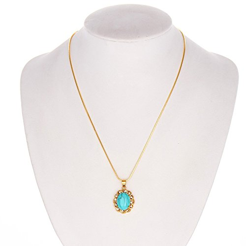 Meenanoom 18k Yellow Gold Filled turquoise Pendant 18