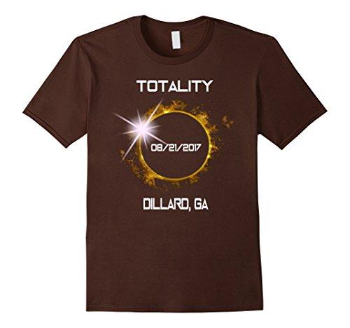 Mens Dillard Ga Total Solar Eclipse August 21 2017 T Shirt 3Xl Brown