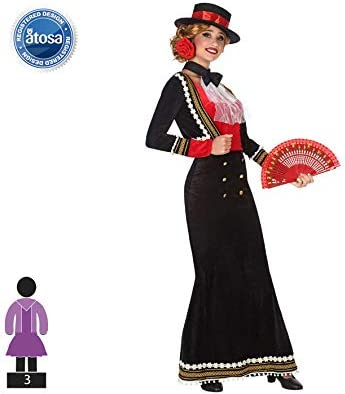 Atosa-53864 Disfraz Cordobesa, Color Negro, M-L (53864): Amazon.es ...