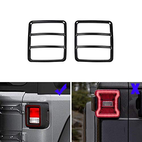RT-TCZ Jeep Tail Light Cover Black Rear Tail Light Guard Protector for 2018 Jeep JL & Unlimited