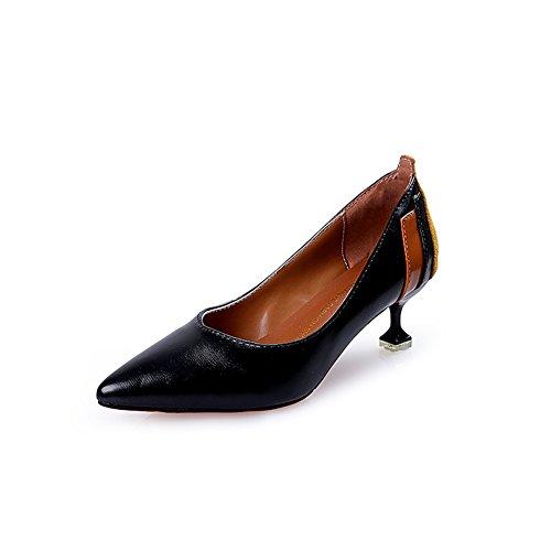 Zapatos de Mujer New Artificial PU High Fashion Pointed High HeelsStiletto Heel Low-Top Shoes Estilo Americano Europeo Zapatos de Boca Poco Profunda Primavera Verano B