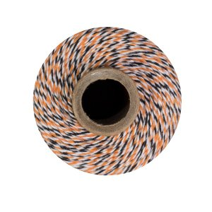 Bakers Twine - 240 Yards 4 ply Cotton (Halloween - Orange Black White) by Bakers Stock