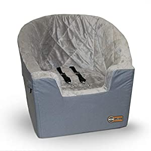 K&H Pet Products Bucket Booster Dog Car Seat Large Gray 14.5″ x 24″