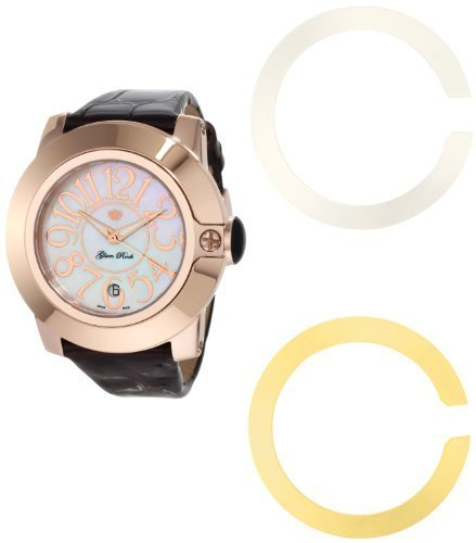 Glam Rock Unisex Quartz Watch With Multicolour Dial Analogue Display And Leather Strap 0.96.2249