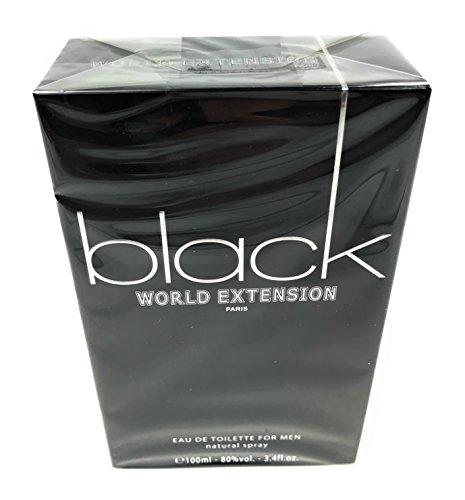 BLACK WORLD EXTENSION BY VIVIANE VENDELLE GEPARLYS COLOGNE FOR MEN 3.4 OZ / 100 ML EAU DE TOILETTE SPRAY
