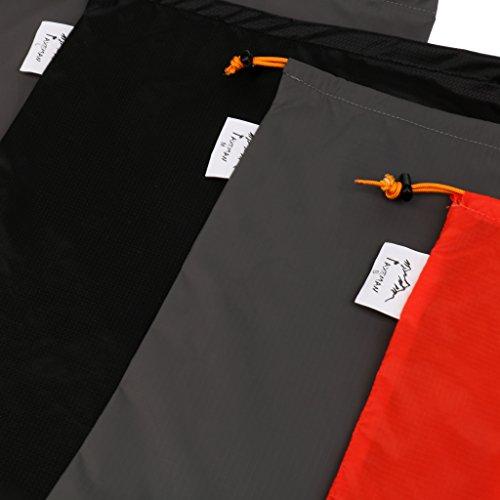 Gazechimp Reisetaschen Set, 5 Größen Nylon Organizer Tasche mit Tunnelzug, ideal für den täglichen Gebrauch Reisen Wandern Camping Urlaub leichte Organizer Tasche