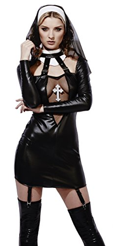Fever Women's Miss Behave Nun Costume, Multi, Large