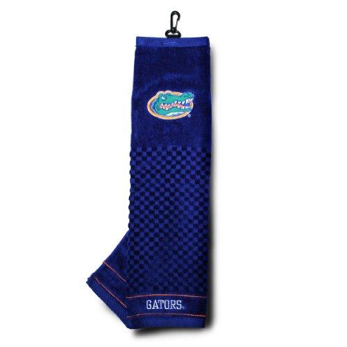Team Golf NCAA Florida Gators Embroidered Golf Towel, Checkered Scrubber Design, Embroidered Logo