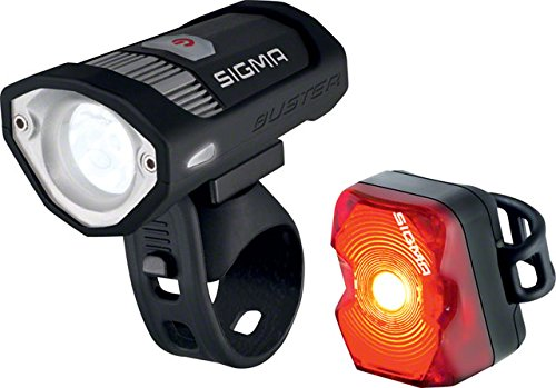 Buster 200/Nugget Flash USB Rechargeable Front and Rear Bicycle Light Set