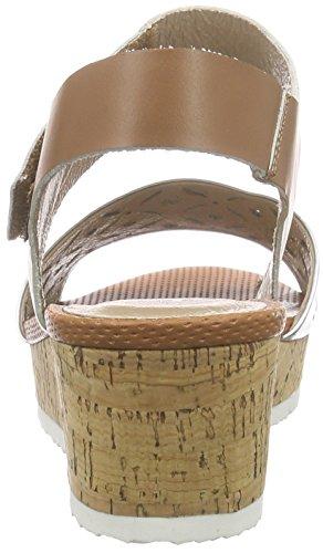 Silver Sandales 011 Femme Talon Lexus à Et Bride Cuoio compensé PMS Dk Sandal Multicolore Mehrfarbig 6wT1q1f