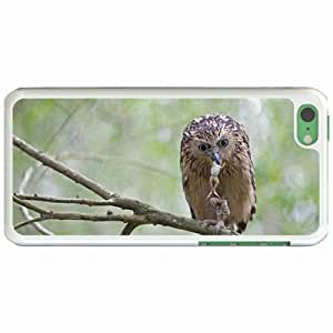 Personalized Apple iPhone 5C Back Diy PC Hard Shell Case Owl White
