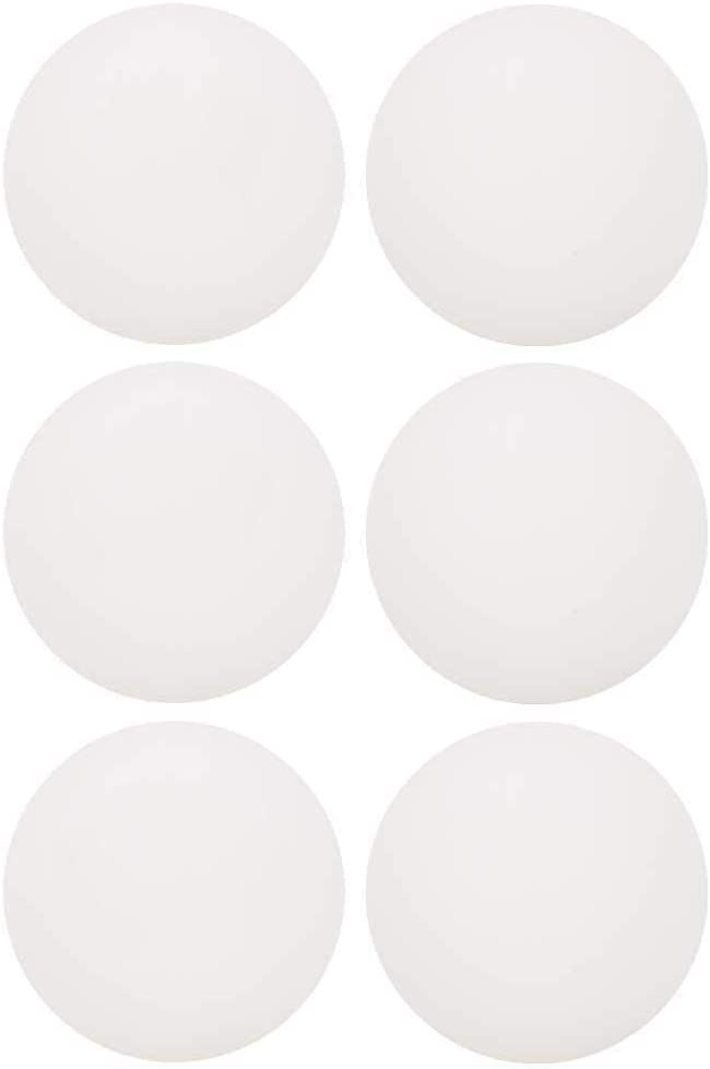 Juego de Pelotas de Tenis de Mesa, 6 Piezas Bolas de Ping-Pong de plástico ABS, Pelotas de Entrenamiento de Tenis de Mesa al Aire Libre