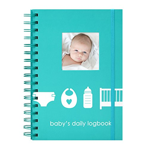 Pearhead Baby's Daily Log Book, 50 Easy to Fill Pages to Track and Monitor Your Newborn Baby's Schedule (Column Chart With Two Sets Of Data)