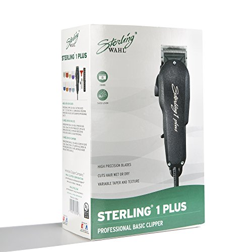 Wahl Professional Sterling 1 Plus Clipper 8074-200 - Great for Professional Stylists and Barber - Standard Electromagnetic Motor