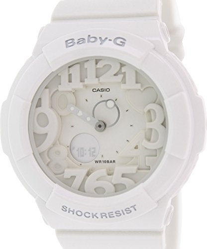 Casio Women's Baby-G BGA131-7B White Plastic Analog Quartz Watch
