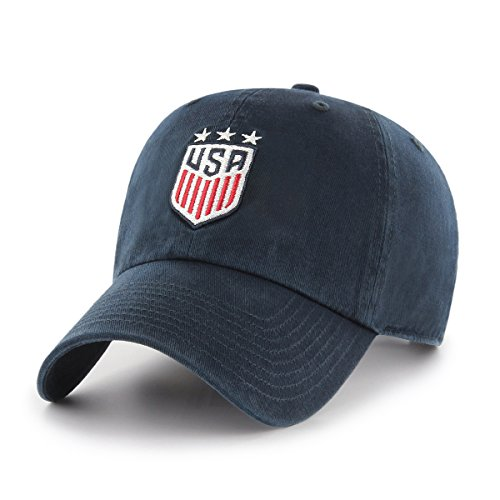 World Soccer Football Cap Hat - World Cup Soccer United States Adult Women World Cup Soccer Ots Challenger Adjustable Hat, Women's, Navy-US Women's Team