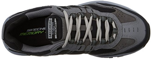 Skechers Sport Men's Vigor 2.0 Trait Memory Foam Sneaker, Charcoal/Black, 7 M US by Skechers (Image #8)