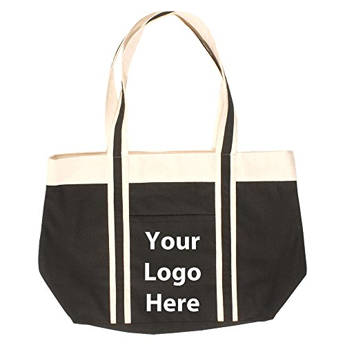 Newport Tote - 25 Quantity - $8.09 Each - PROMOTIONAL PRODUCT / BULK / BRANDED with YOUR LOGO / CUSTOMIZED by Sunrise Identity