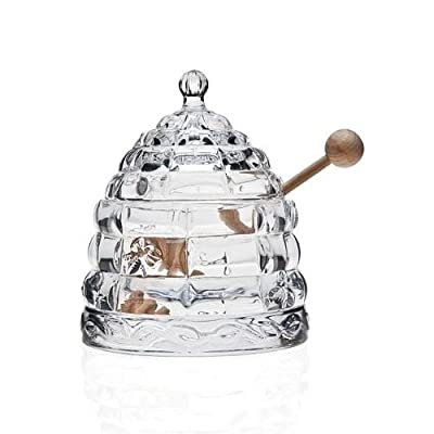 Beehive Crystal Honey Jar
