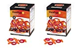 Liberty DuraPlug Corded Disposable Foam Earplug with 32 dB NRR, Orange (Case of 100 Pairs) (2 X Pack of 100)