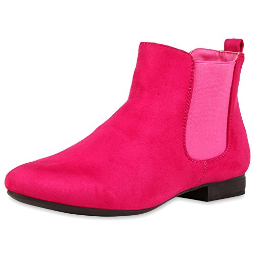 napoli-fashion - Botas Chelsea Mujer Pink Velour