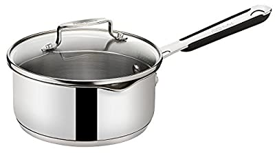 Tefal Jamie Oliver 16cm Stainless Steel Induction Saucepan with Glass Lid