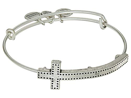 Alex and Ani Women's Spiritual Armor Cross Bangle Rafaelian Silver One Size (Alex And Ani Bangles Cross)