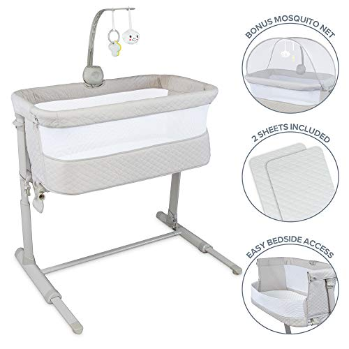 Lil' Jumbl Baby Bedside Bassinet | Standalone Crib & Co