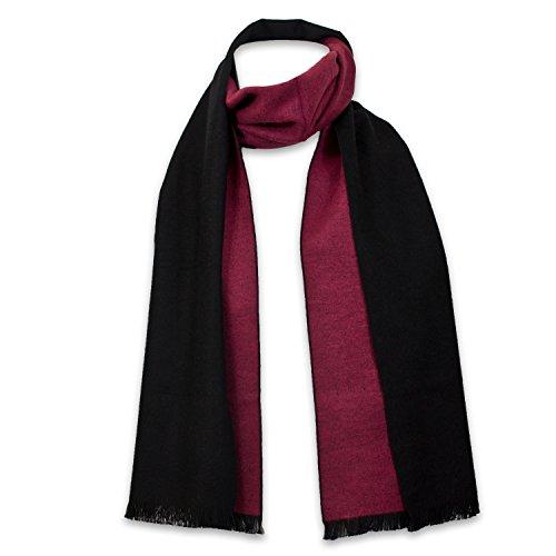StrayKat Men's Silk Viscose Luxury Soft Reversible Scarf, Designer Gift Box, O/S (O/S, Black Raspberry)