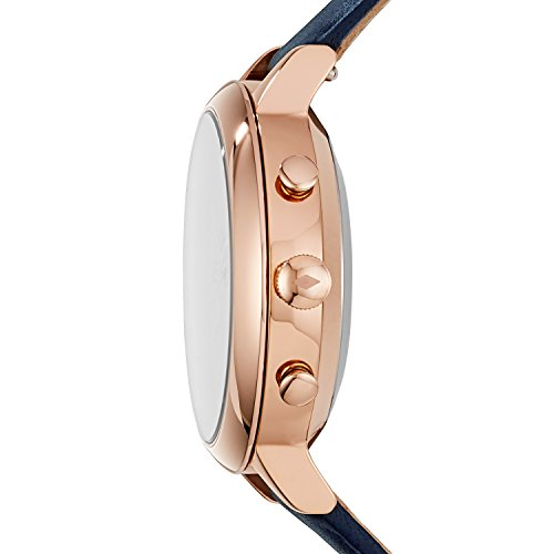 Fossil Hybrid Smartwatch - Q Jacqueline Navy Leather FTW5014
