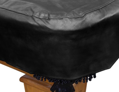 Black 9' Heavy Duty Leatherette Pool Table Cover - 9 Foot Billiard Table Cover